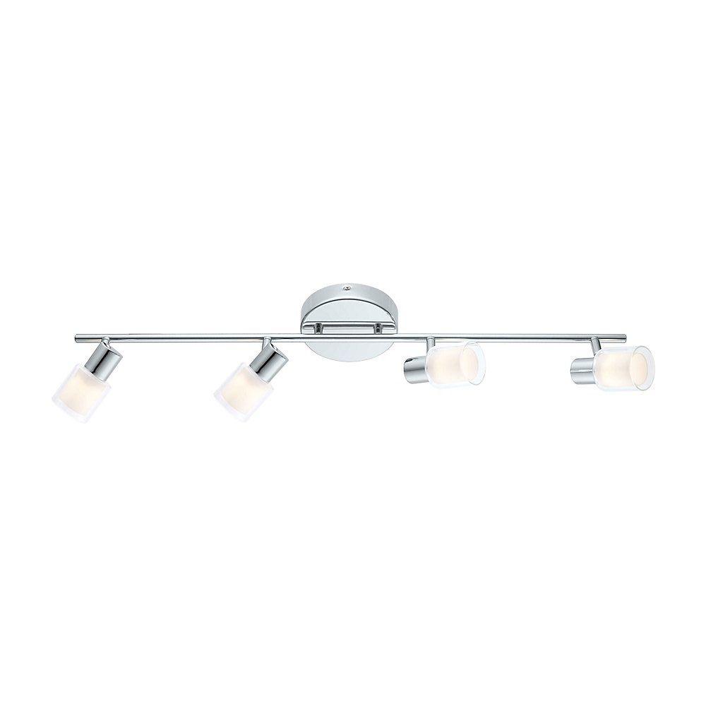 Salti Rail LED 4L, fini chrome avec verre givré et clair