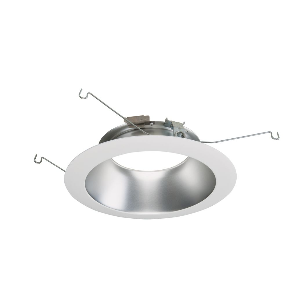 Halo 6 Inch  LED Downlight Trim, Specular Clear with White Trim Ring