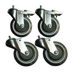 Sandusky Roulettes de 5 po à usage intensif pour étagères en fil métallique