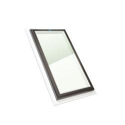 Columbia Skylights Puits de Lumière 2pi x 4pi Fixe, Solin Intégré verre transparent LoE3 trempée avec cadre noir