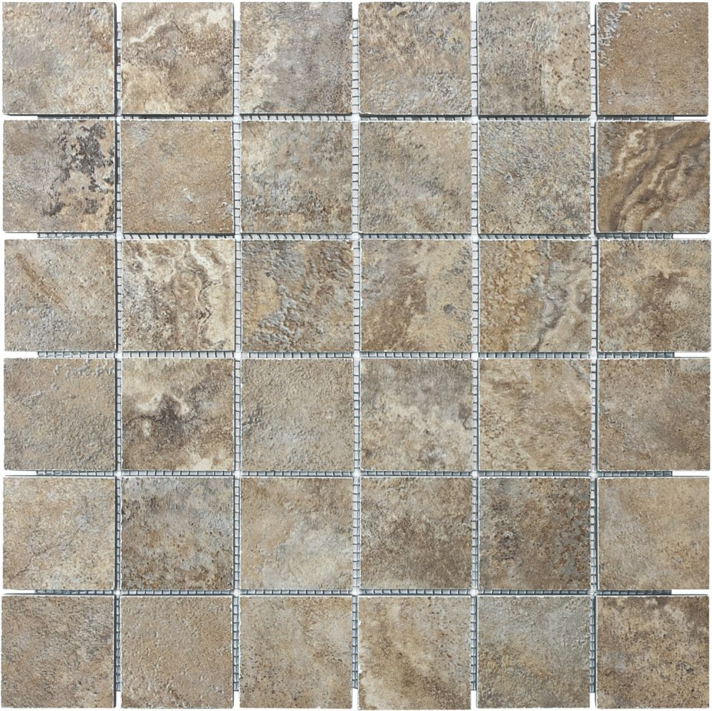 Etrusca Villa 2-Inch x 2-Inch Mosaic Tile