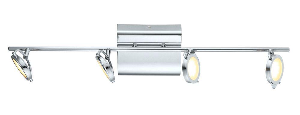 Orotelli LED Track 4L, Chrome Finish with Satin Glass