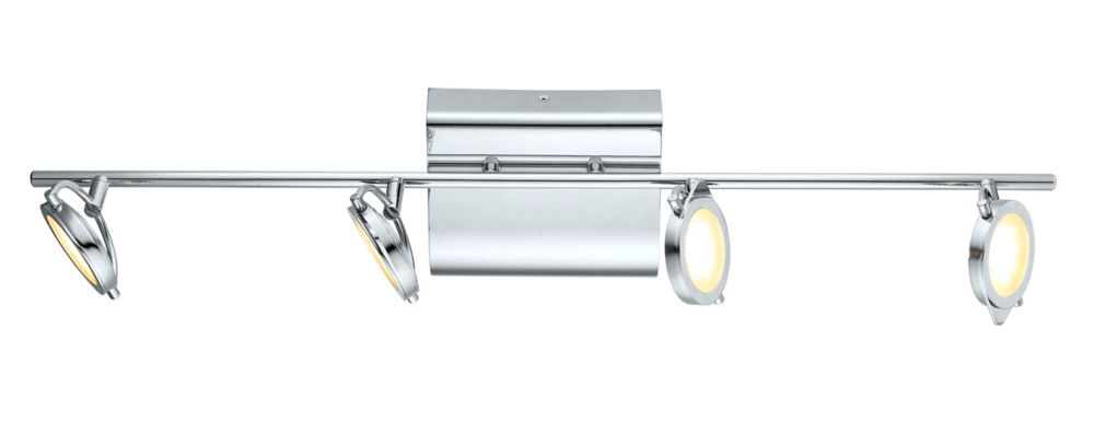 Orotelli Rail LED 4L, fini chrome avec verre satin