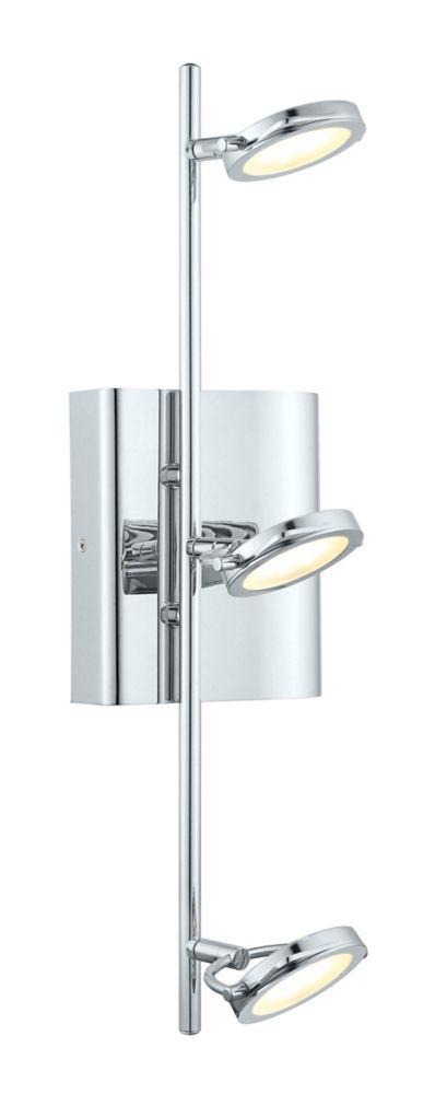 Orotelli Rail LED 3L, fini chrome avec verre satin