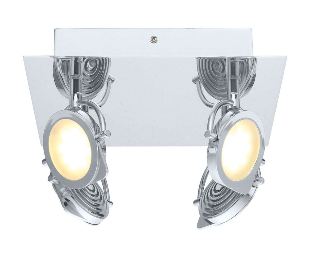 Orotelli LED Ceiling Light 4L, Chrome Finish with Satin Glass 200276A Canada Discount