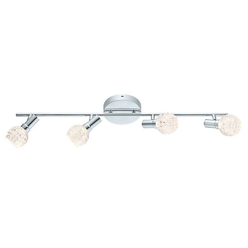Hania LED Track 4L, Chrome Finish with Clear Glass