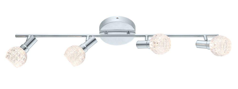 Hania Rail LED 4L, fini chrome avec verre clair