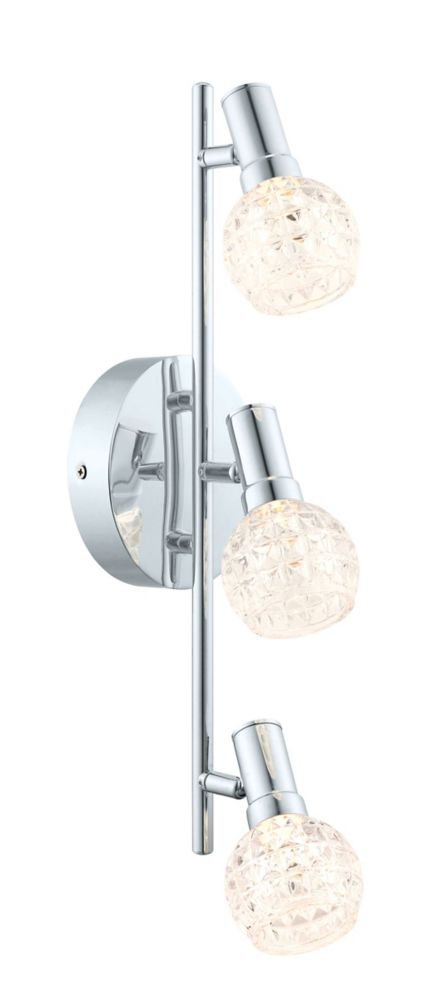 Hania LED Track 3L, Chrome Finish with Clear Glass