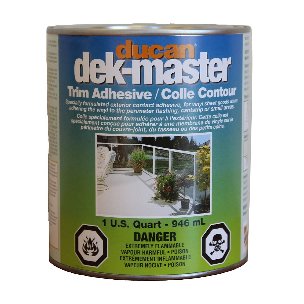 Trim Adhesive, a fast tack adhesive used to adhere vinyl to metal flashing, cantstrip, or any ver...
