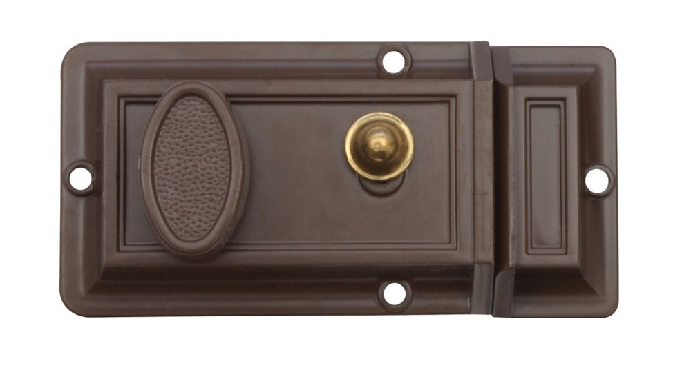 Brown Night Latch Deadbolt