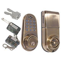 Square Satin Nickel Single Cylinder Keyless Entry Electronic Keypad Deadbolt