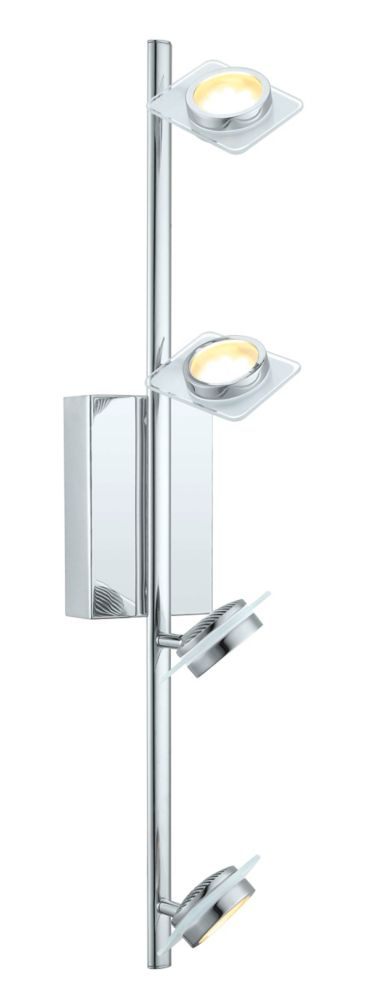 Tinnari Rail LED 4L, fini chrome avec verre satin