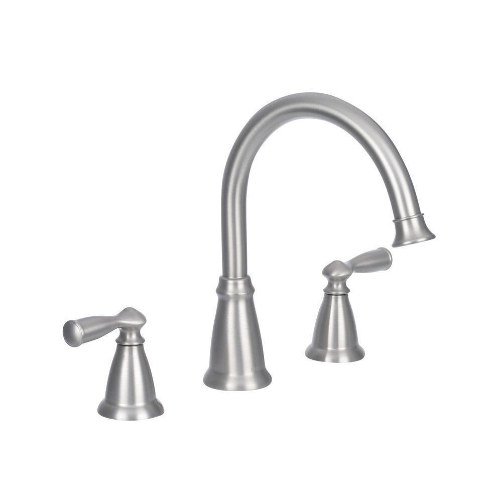 Banbury 2-Handle Roman Bath Faucet in Spot Resist Brushed Nickel