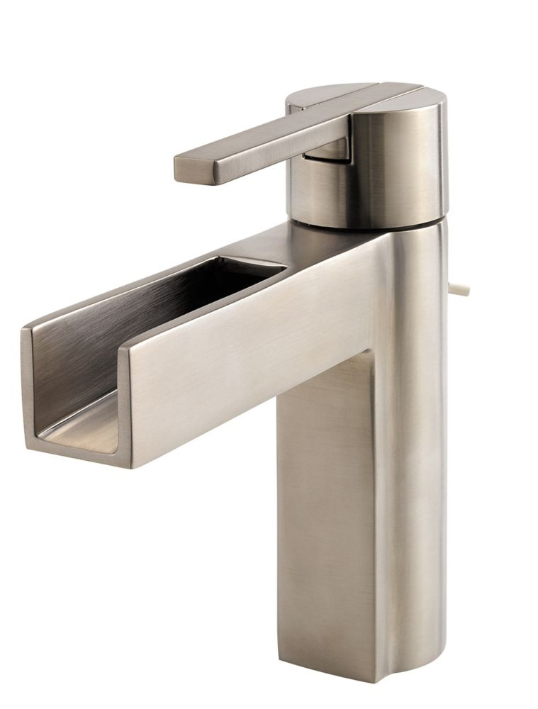 Vega 4-inch Centreset Single-Control Bathroom Faucet in Brushed Nickel Finish