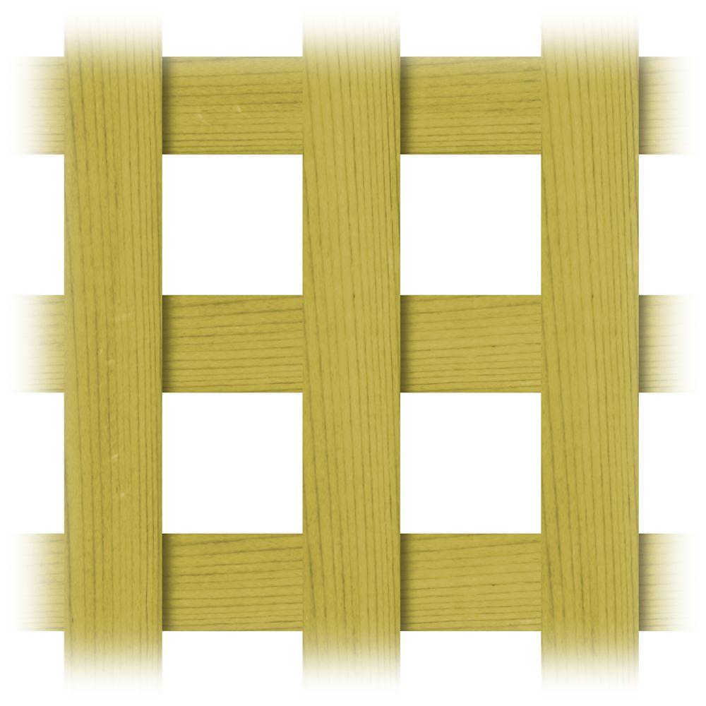 Proguard Treated Wood 4x8 Square Lattice The Home Depot Canada