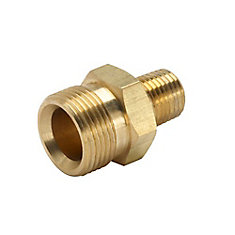 3/8 in. Male NPT x Male M22 Pressure Washer Hose to Trigger Coupler