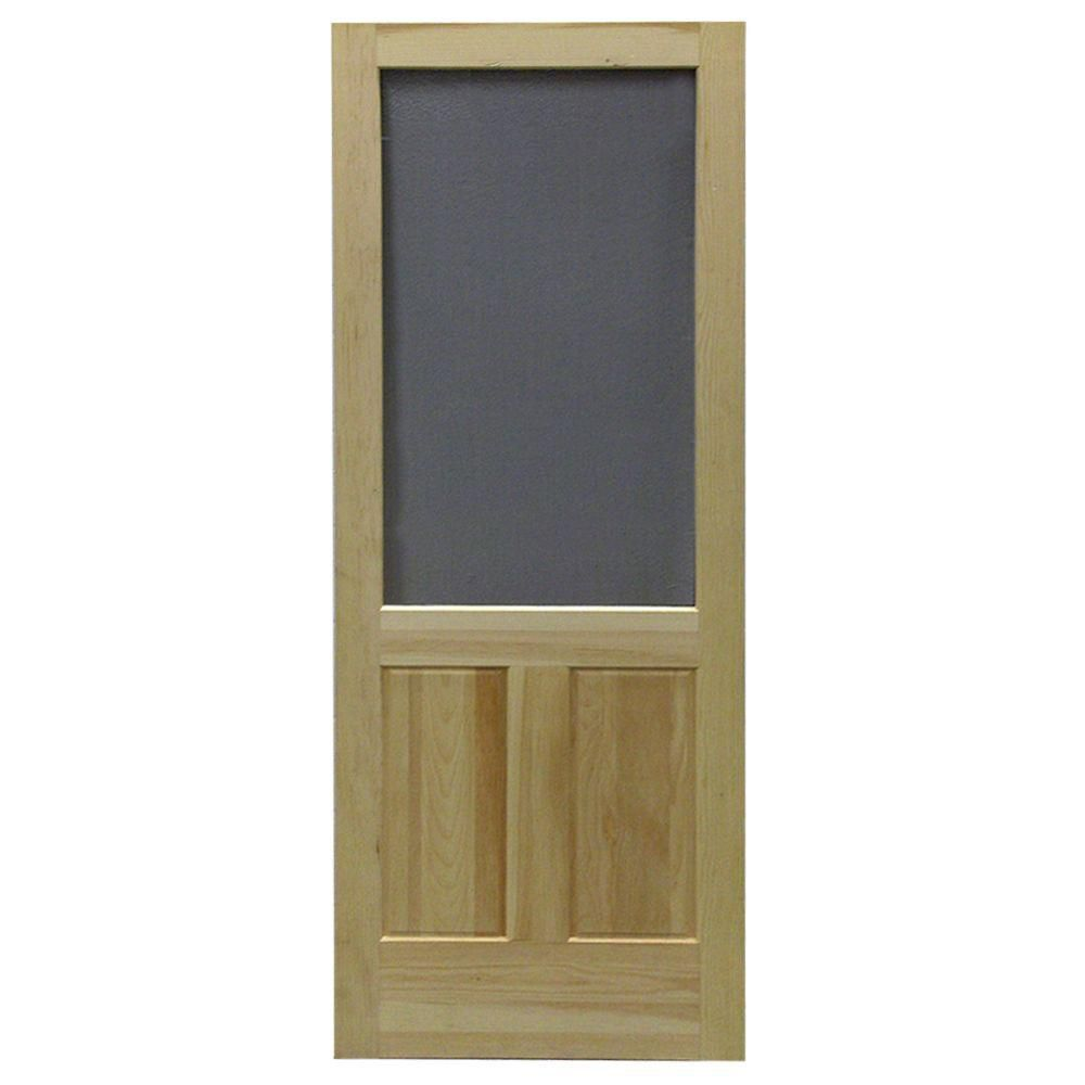 36-inch x 80-inch Laurentian Wood Screen Door