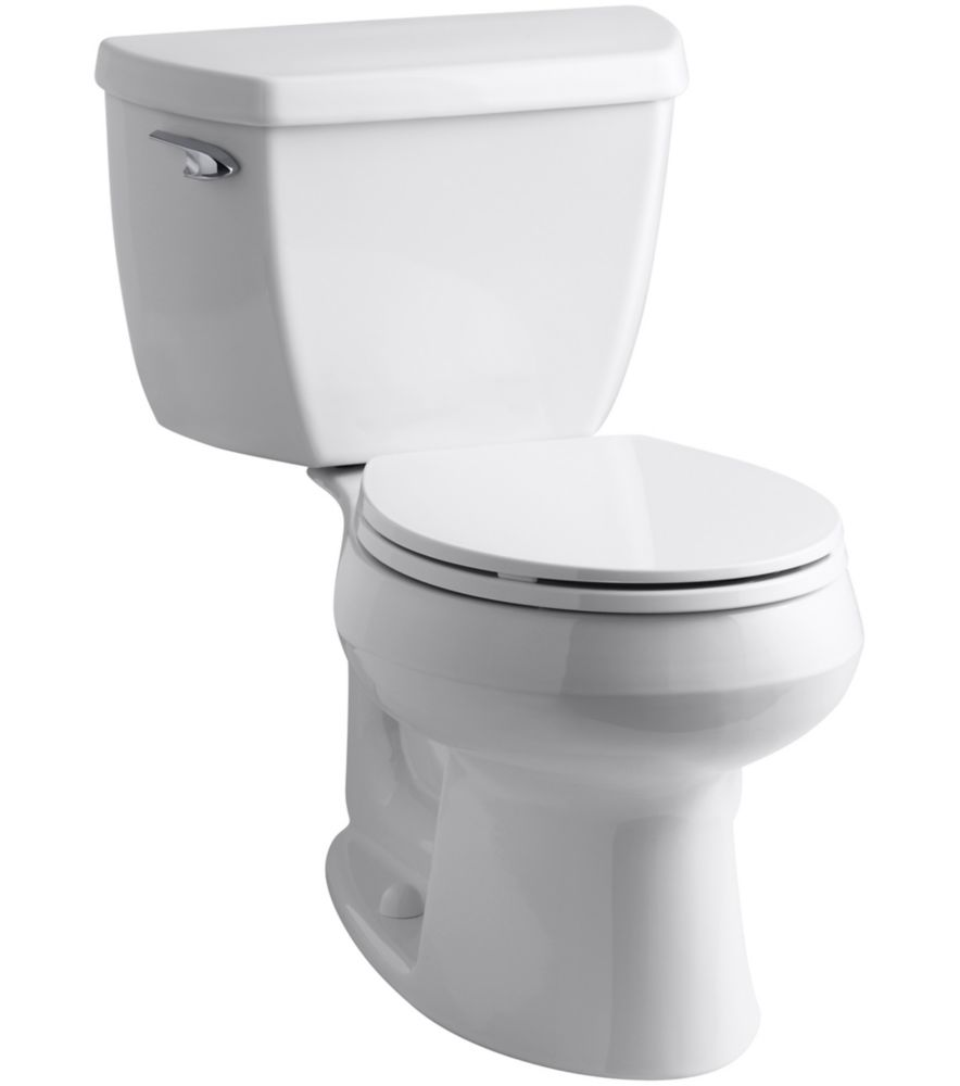 Wellworth<sup>®</sup> The Complete Solution 1.28 GPF Single Flush Round-Front Toilet in White