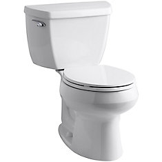 Wellworth 2-Piece Single-Flush Round Bowl Toilet in White