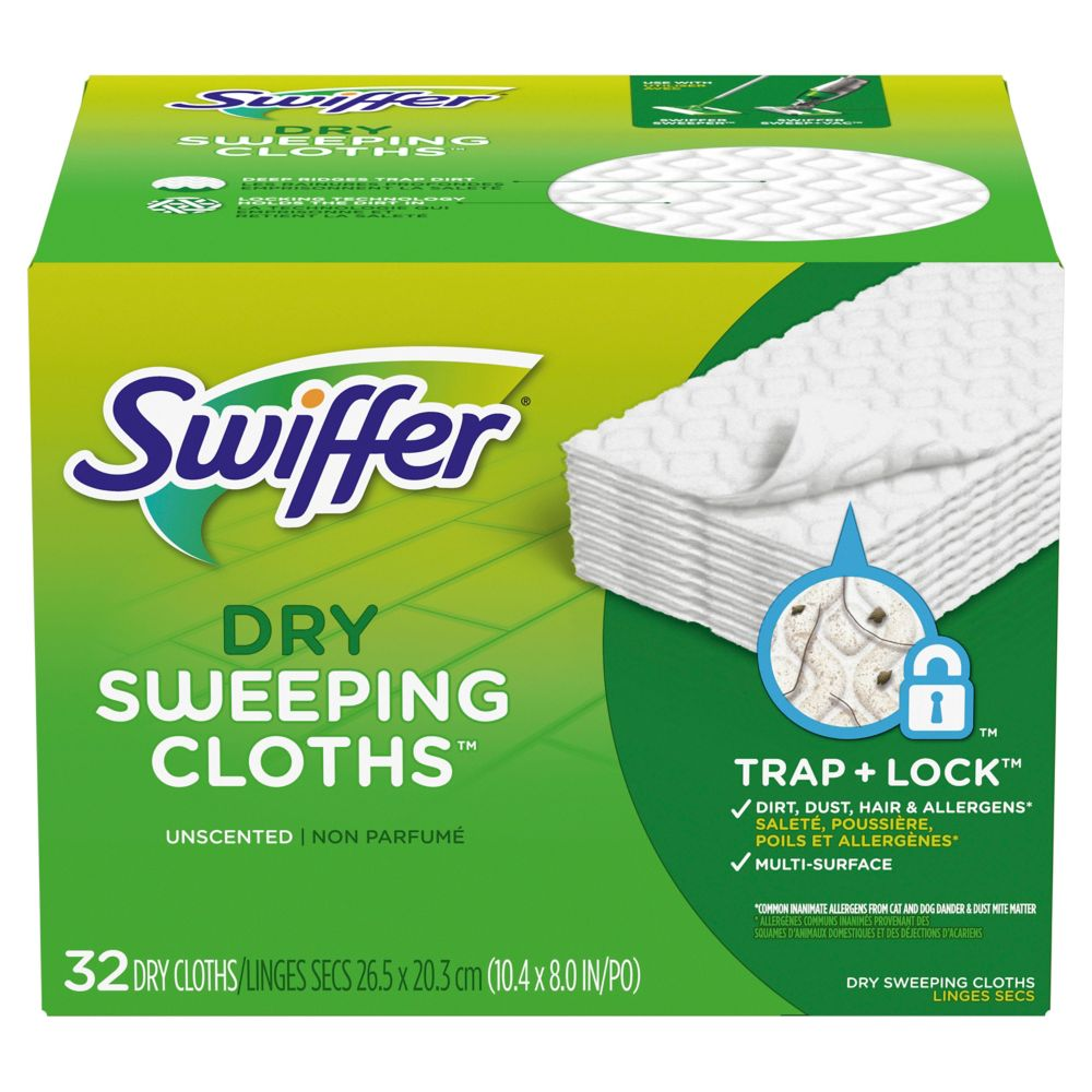 Recharges de 32 linges secs Swiffer Sweeper