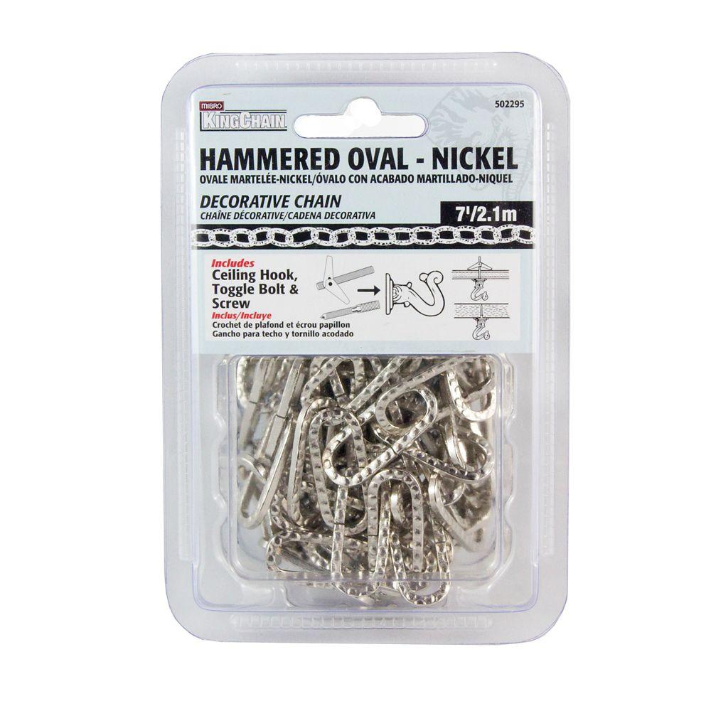 Martelée Ovale-Nickel 6.5'
