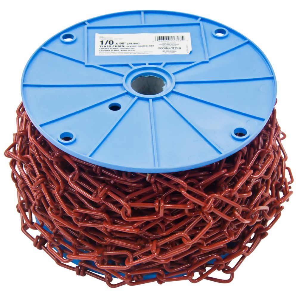 1/0 X 98 ft Tenso Chain-Pvc-Red -  Per Foot