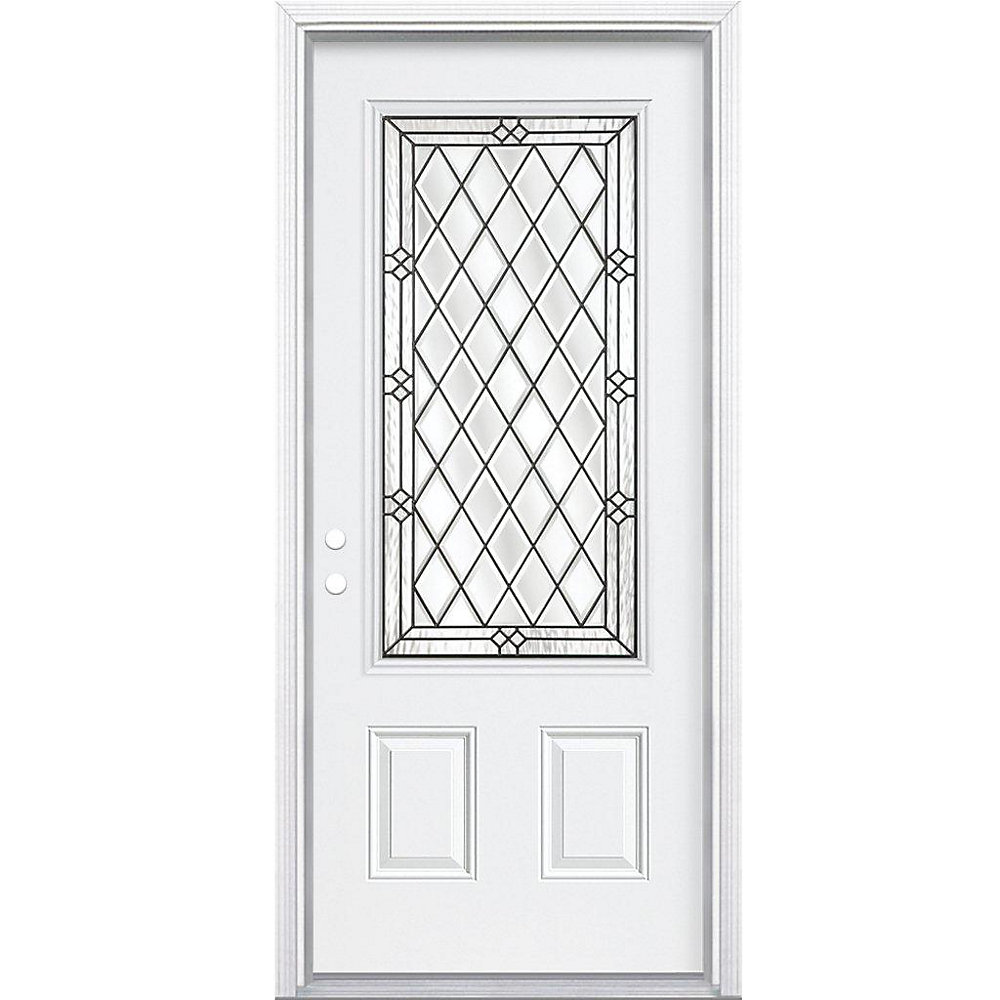 Mobile Home Replacement Doors Exterior: 34-inch X 80-inch X 6 9/16-inch Antique Black 3/4-Lite