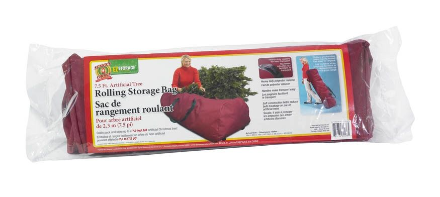 7.5 FT Artificial Tree Rolling Storage Bag - Burgundy