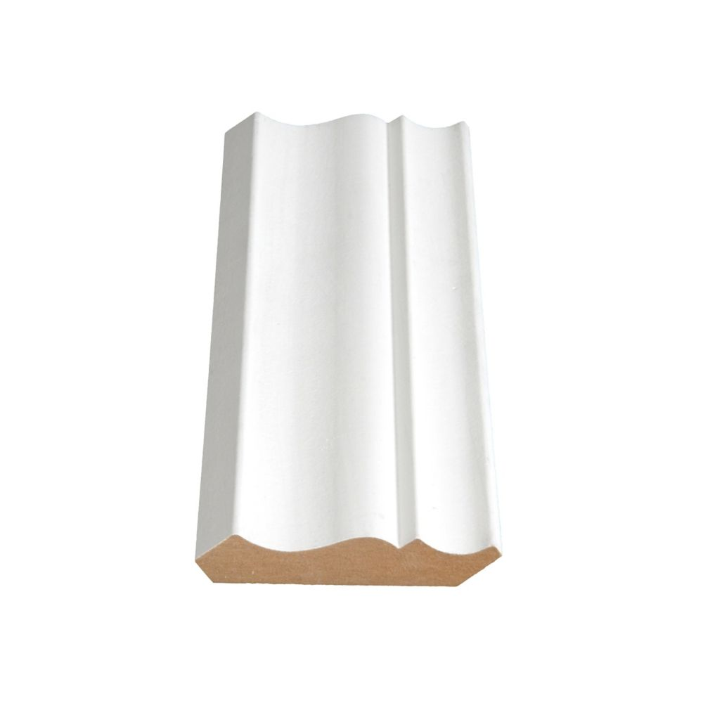 Painted Fibreboard Decosmart Crown 5/8 In. x 3-1/4 In. x 12 Ft.