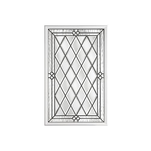 Masonite 22-inch x 36-inch Halifax Antique Black 1/2-Lite Decorative Glass Insert