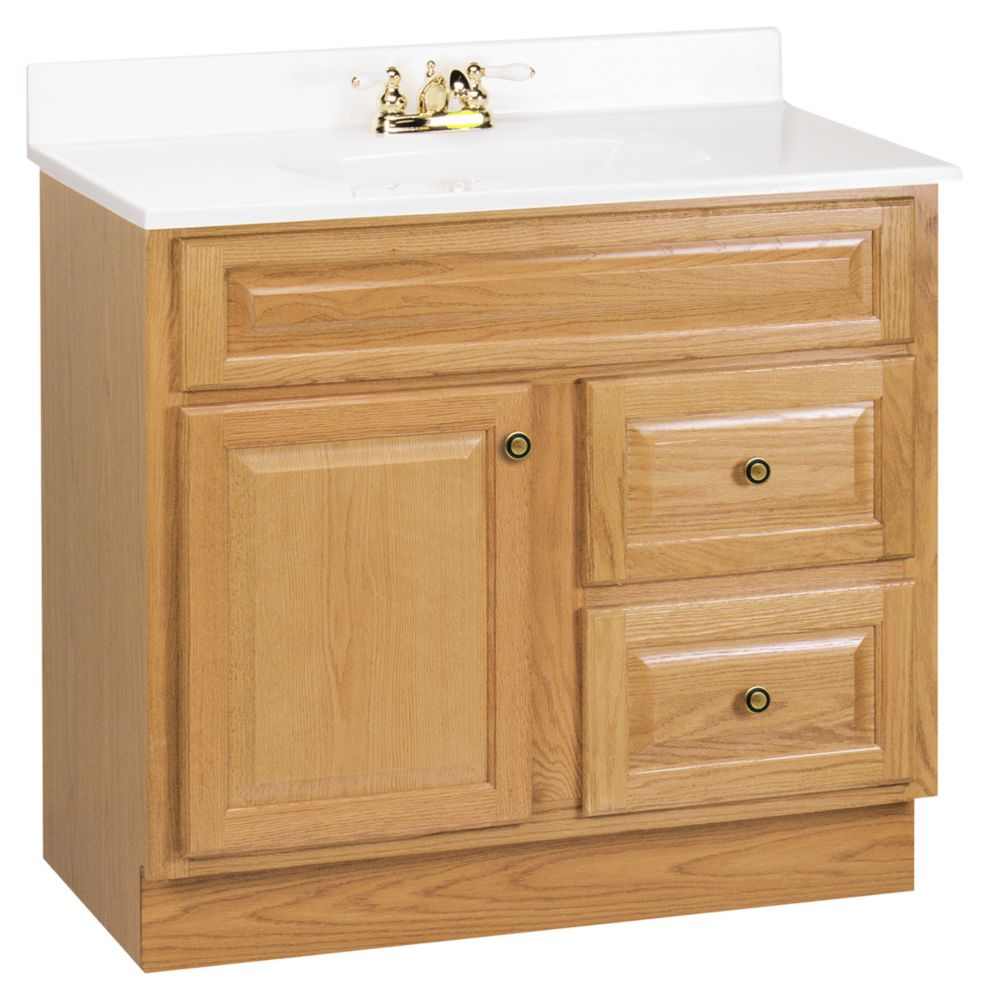 American Classics Hampton 36-Inch  Vanity Cabinet in Oak