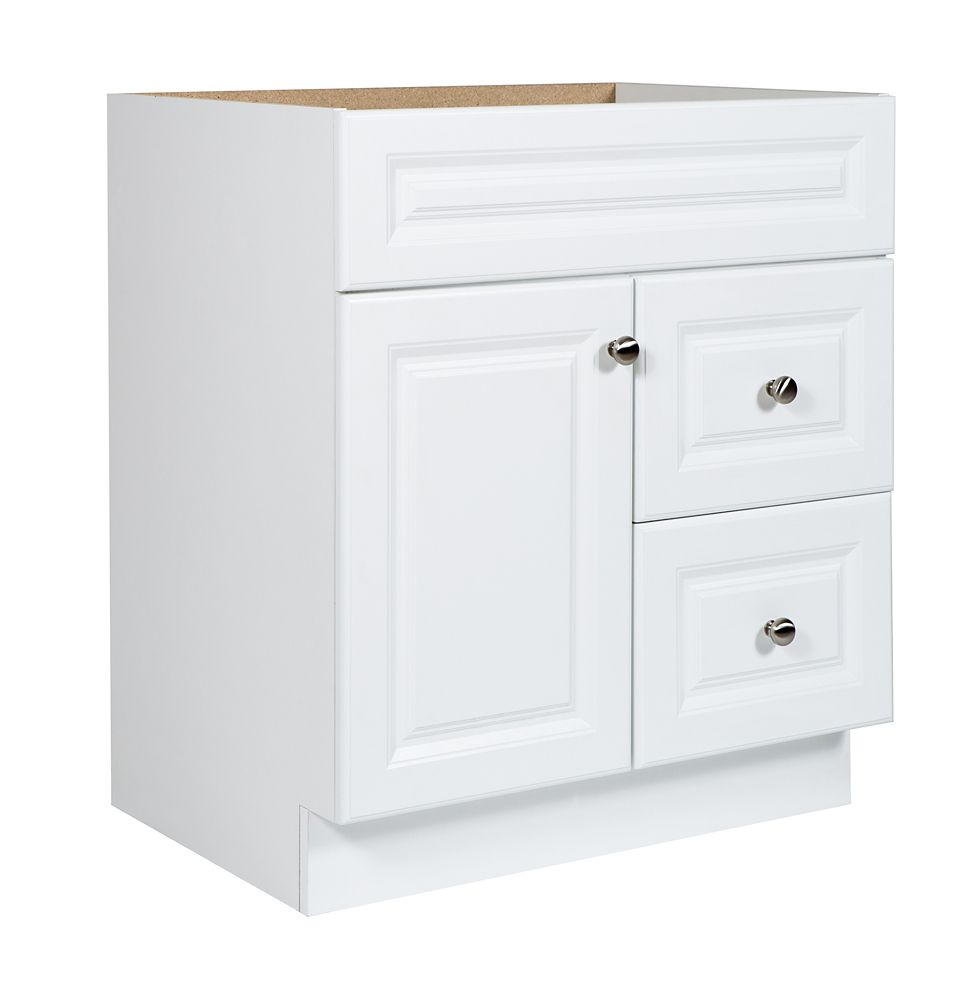 Hampton Bay Kitchen Cabinets Home Depot Canada: Glacier Bay 30 In White Hampton Vanity