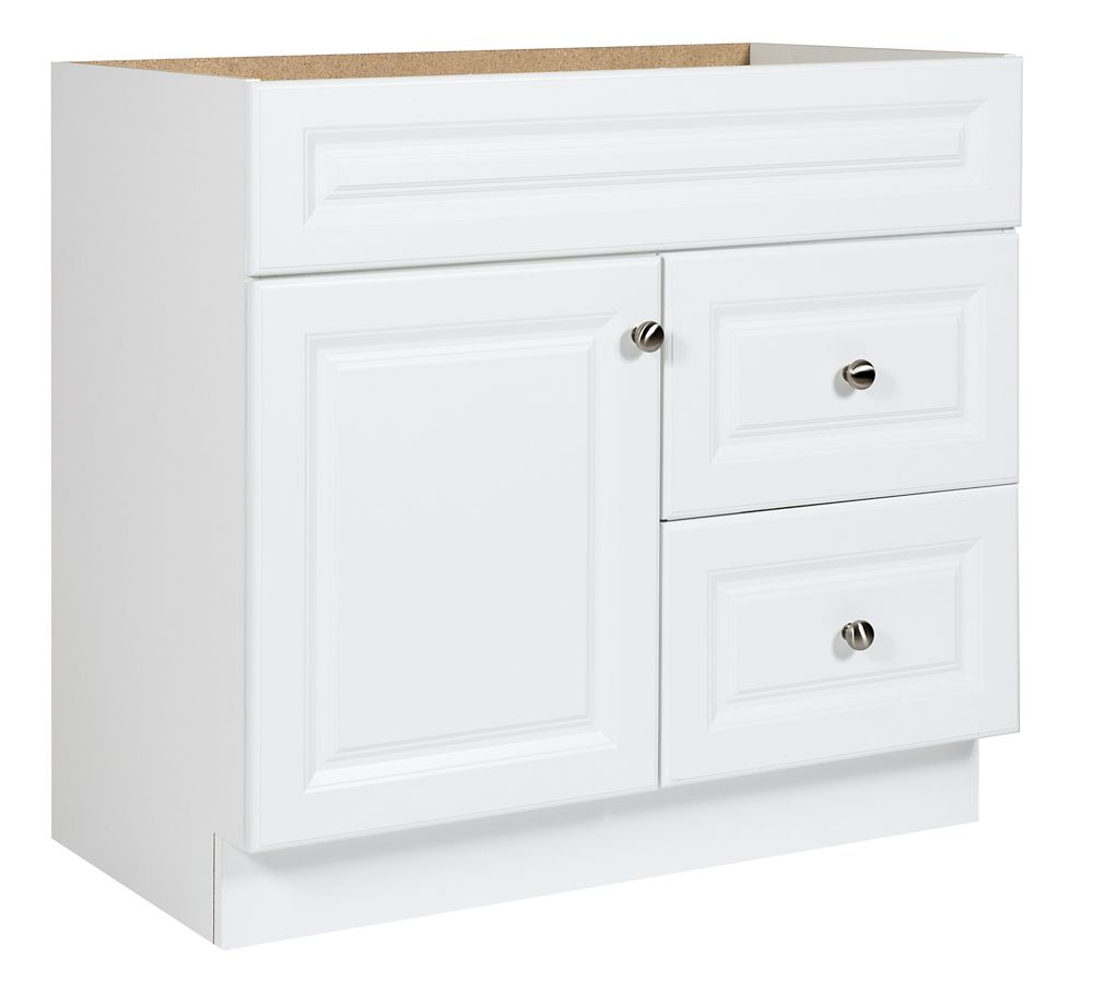 Glacier Bay 36 In White Hampton Vanity The Home Depot Canada
