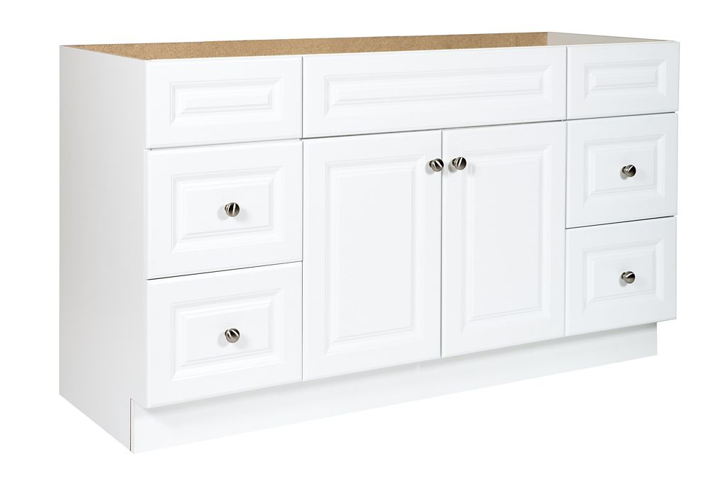 60 in White Hampton Vanity
