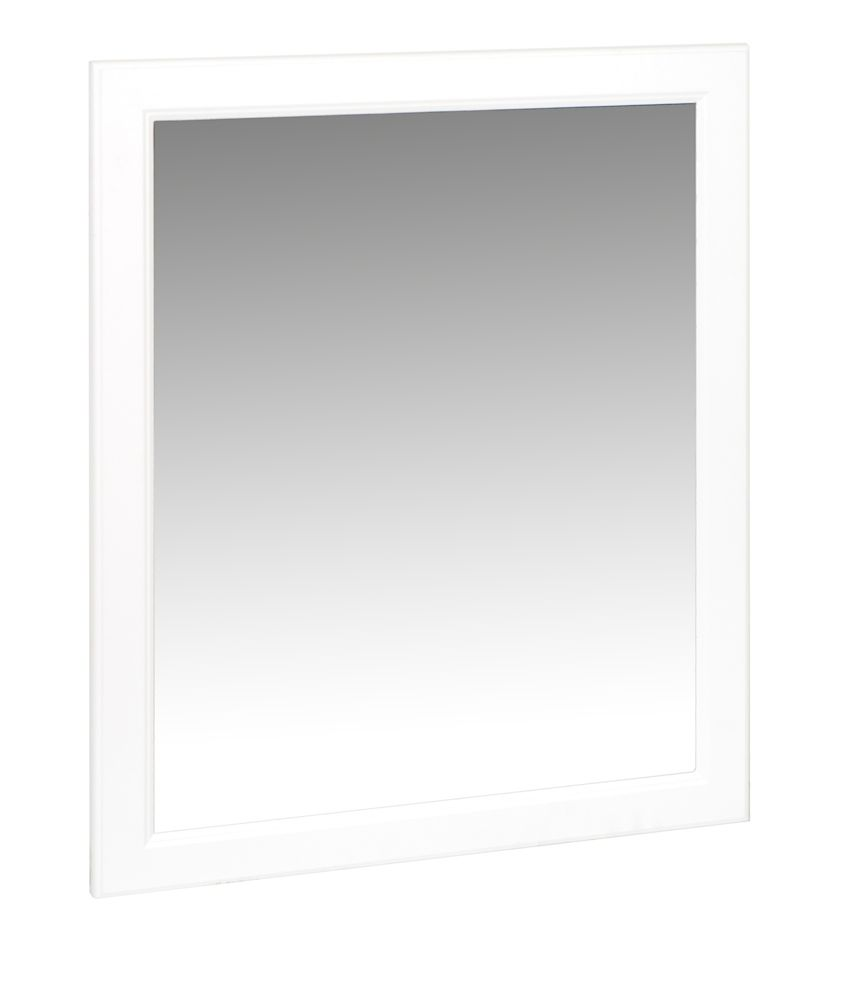 Glacier bay miroir pour salle de bain hampton blanc 29 po for Miroir pour salle de bain