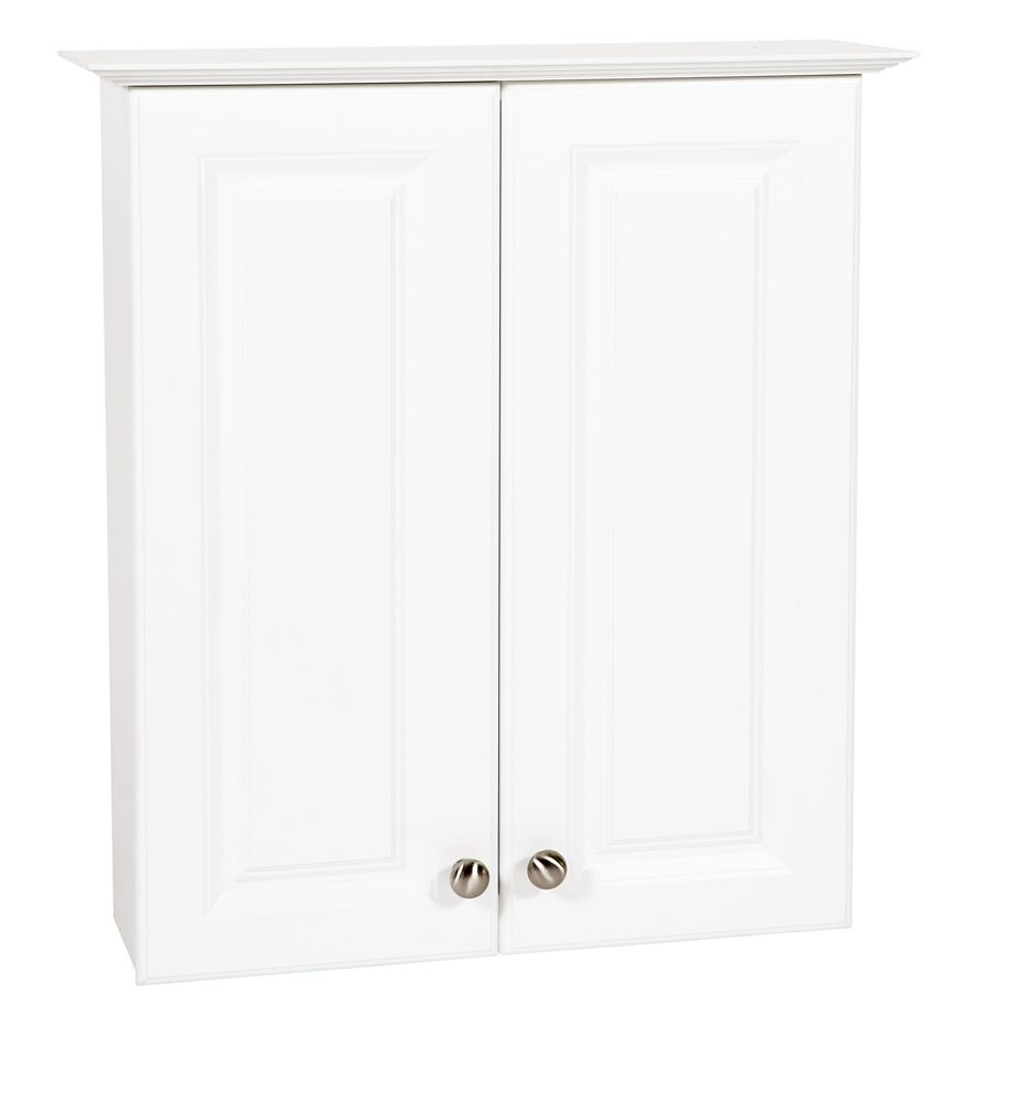 GLACIER BAY 24 in White Hampton Bath Storage Cabinet
