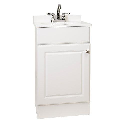 Meuble-lavabo de 18 po avec dessus faux marbre, 19 po L x 17 1/2 po P x 31 po H