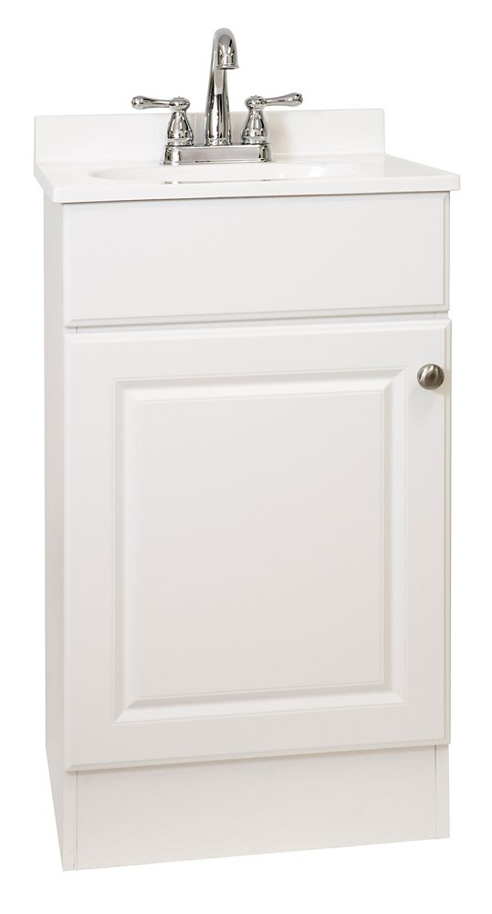 GLACIER BAY Easy 18.88-inch W 1-Door Vanity in White | The Home Depot Canada