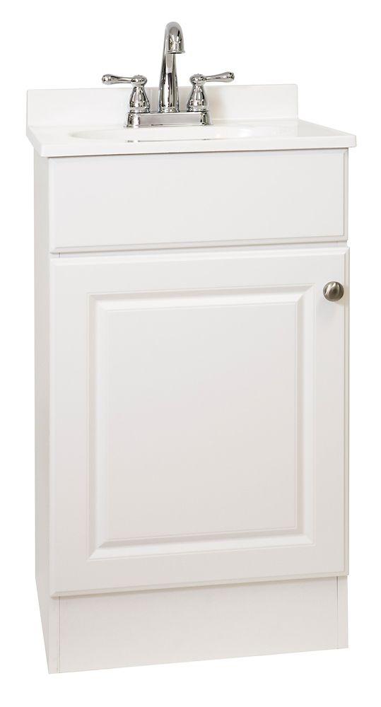 Easy 18.88 Inch W 1 Door Vanity In White