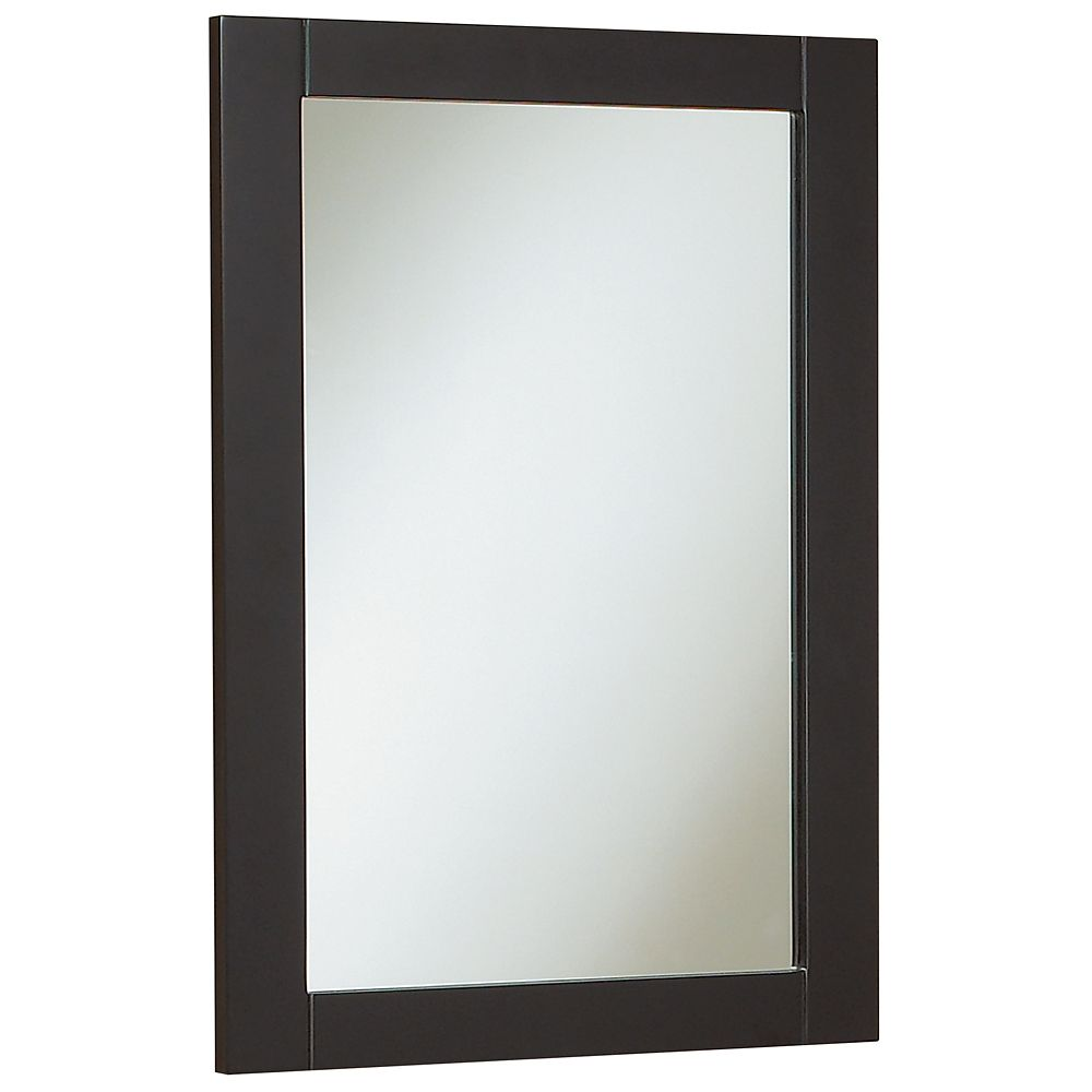 Miroir Eurostone de style shaker de 45,7 cm (18 po) - chocolat noir