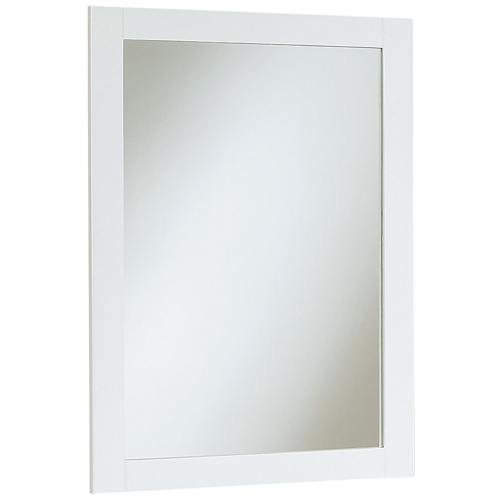 18 inch eurostone shaker style mirror matte white 41701 for Cheap white mirror