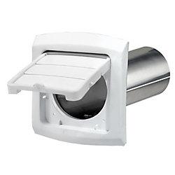 Dundas Jafine EZ Access hotte d'évacuation d'air du sèche-linge, blanc, 4 po