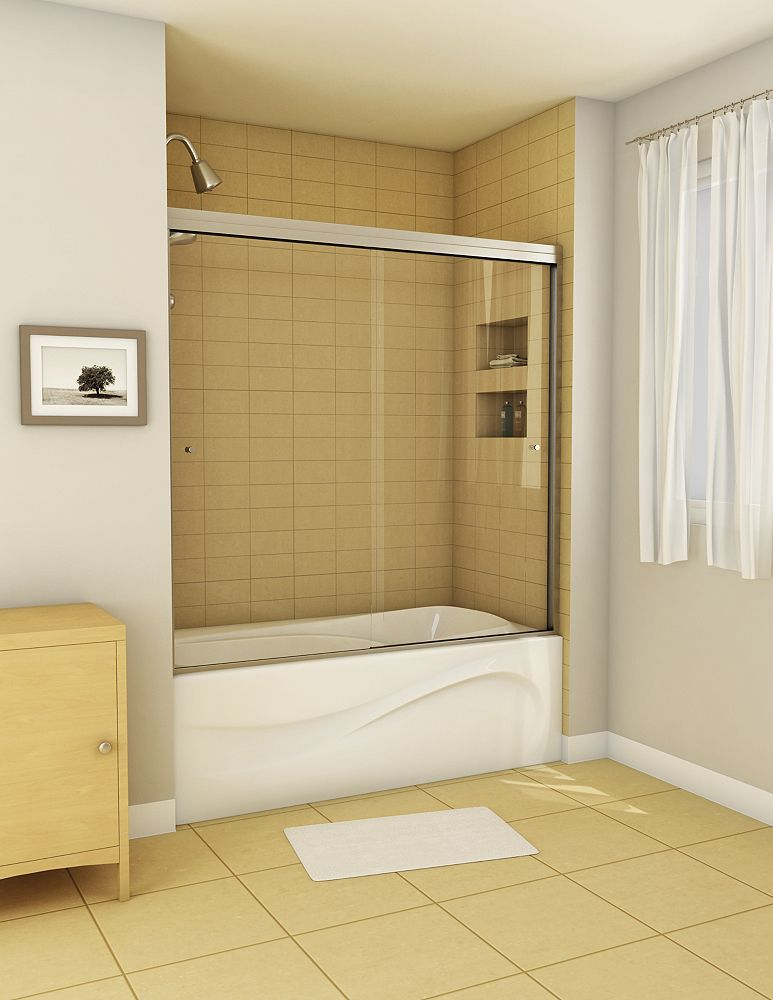 Canvas 2-Panel Frameless Tub Door