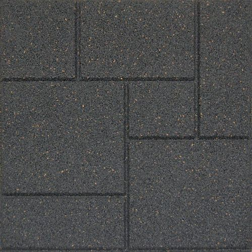 Envirotile 18X18 Inch  Cobblestone Grey