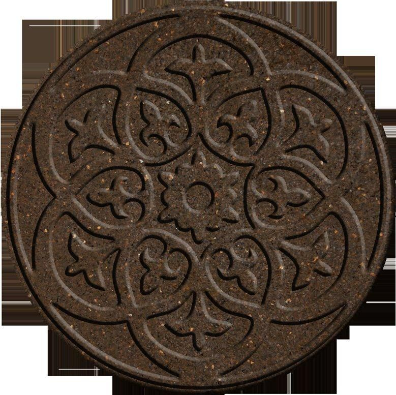 Ecotrend 18 Inch Round SCROLL EARTH Stepping Stone