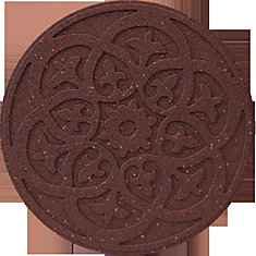 18 Inch Round SCROLL TC Stepping Stone