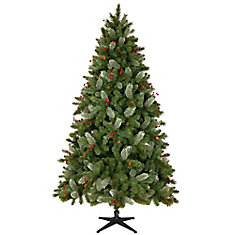 7.5 ft. Decorated Grand Fir Tree without Lights