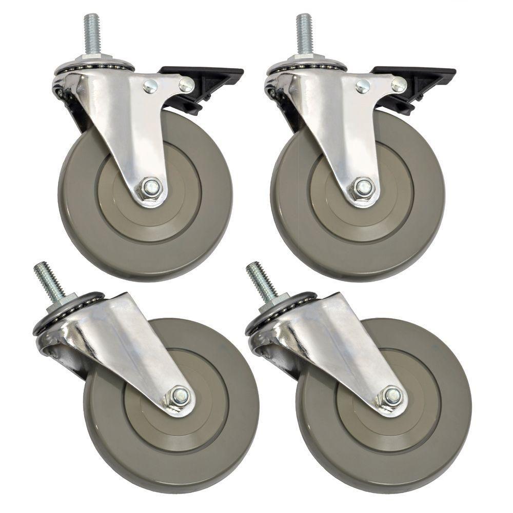 Sandusky 4 Inch Heavy Duty Casters For Wire Shelving