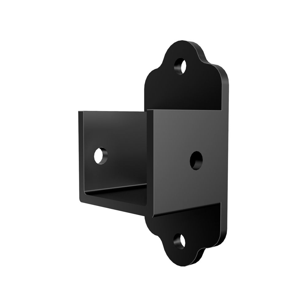 Aluminum Fence Bracket Kit - Black