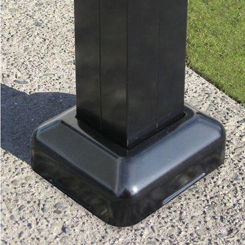 Ensemble poteau surface clôture aluminium